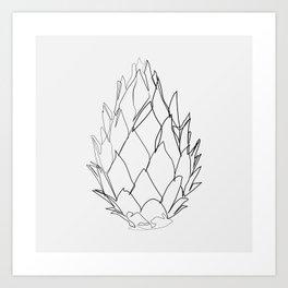 """Botanical Collection"" - Protea Flower Art Print"