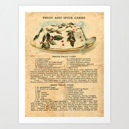 Fruit Cakes - Vintage Art Print
