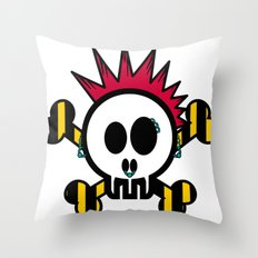 :::::::::PUNK SKULL:::::::::: Throw Pillow