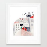 madrid Framed Art Prints featuring Madrid by sole silbando