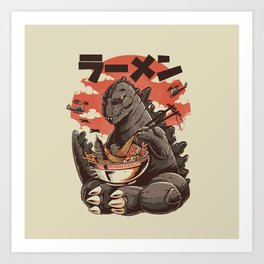 Kaiju's Ramen Art Print