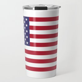 USA flag - Hi Def Authentic color & scale image Travel Mug