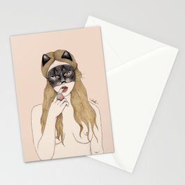 CAT MASK Stationery Cards
