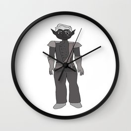 Lavellan black and white winter palace Wall Clock