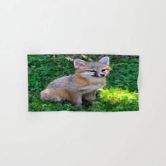 Little Grey Fox Hand & Bath Towel