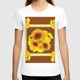 CHOCOLATE BROWN YELLOW SUNFLOWER BOUQUETS T-shirt