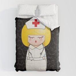 Kokeshi Blonde nurse Comforters