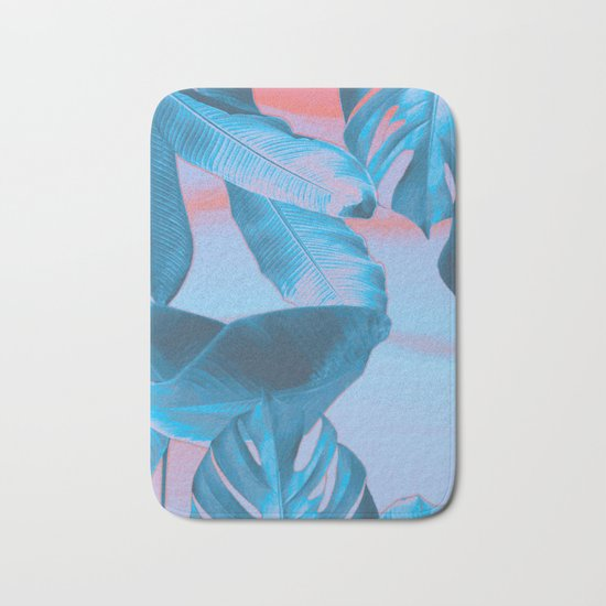 Electric blue botanics (everyday 8/365) Bath Mat