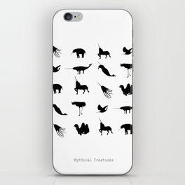 Typology of Mythical Creatures iPhone Skin