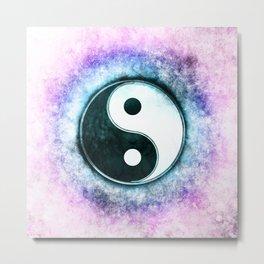 Yin Yang - Blue Moon Corona Metal Print
