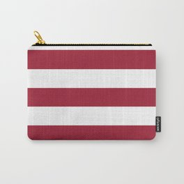 University of Alabama Crimson - solid color - white stripes pattern Carry-All Pouch