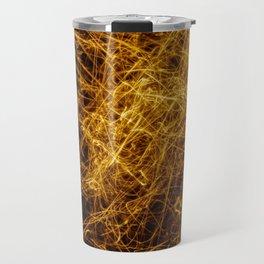 Abstract orange light effect Travel Mug