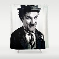 charlie Shower Curtains featuring Charlie by AUSKMe2Paint