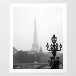 Veiled Eiffel Tower Art Print