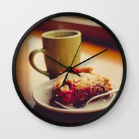 pie Wall Clocks featuring Pie by Jo Bekah Photography