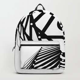 Radiant Abundance (white-black) Backpack
