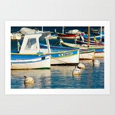 French boats 6971 Art Print