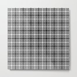 Square Pair Dance of Illusions Metal Print