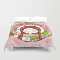 virgo Duvet Covers featuring Virgo by Sandra Nascimento