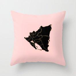 Nicaragua map Throw Pillow