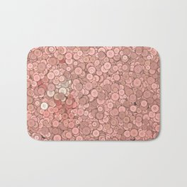 buttons fantasy in pink Bath Mat