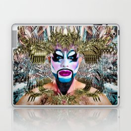 Black Gold N Blue - Lost in Abstract Fx  Laptop & iPad Skin