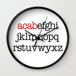 ACAB Alphabet Wall Clock