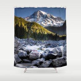 Mt Rainier Morning on the Nisqually #2 Shower Curtain