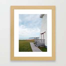 Bridge and Lighthouse Framed Art Print