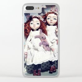 Freya and Faye, Curious Creatures Clear iPhone Case