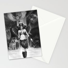 Owl Totem Stationery Cards