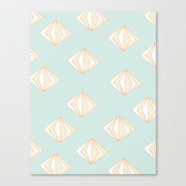 Spinning Gems Mint Canvas Print