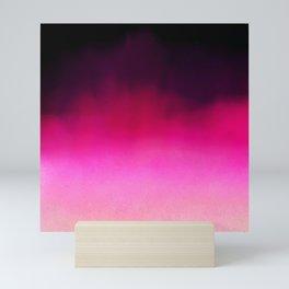 Purple and Black Abstract Mini Art Print
