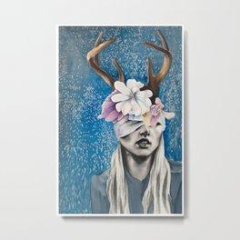 Rustic Deer Antler Art Metal Print