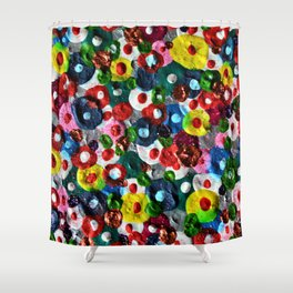 Flowers Blooming Shower Curtain