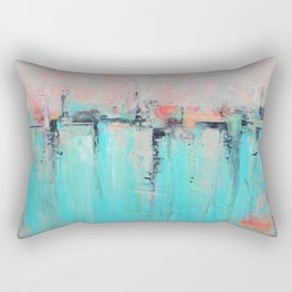 New Theory - Mixed Media Art Rectangular Pillow