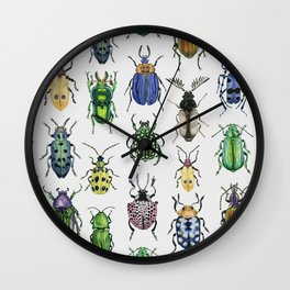 Colourful Bugs Wall Clock