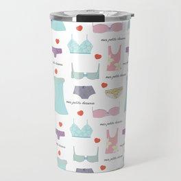 Mes Petits Dessous Pattern Travel Mug