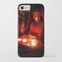 meditation iPhone & iPod Cases featuring Meditation by Christine Belanger