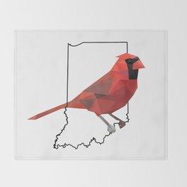 Indiana – Northern Cardinal Throw Blanket