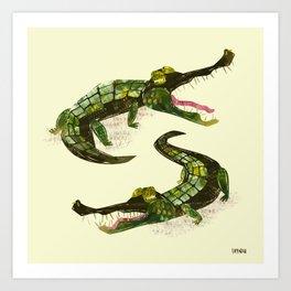 Crocodiles Art Print