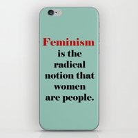 feminism iPhone & iPod Skins featuring Feminism  by Illustrated by Jenny