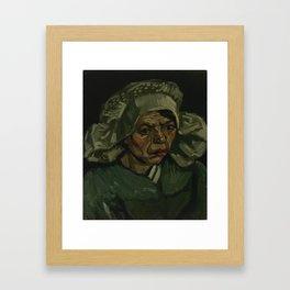 Head of a Woman Framed Art Print