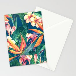 Tropical Bird Of Paradise Flowers Stationery Cards