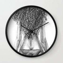 Curly girl Wall Clock