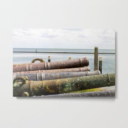 Old rusty cannons. Metal Print