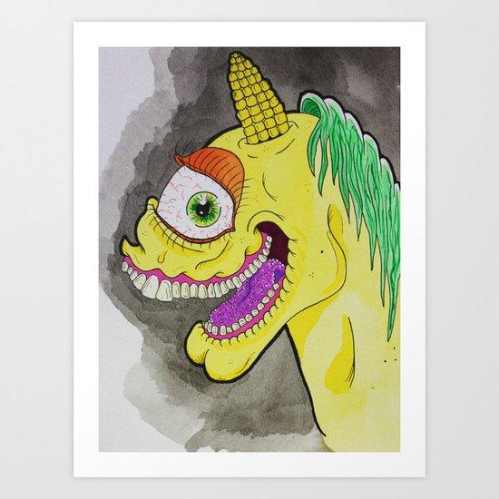 Unicorniclops Art Print