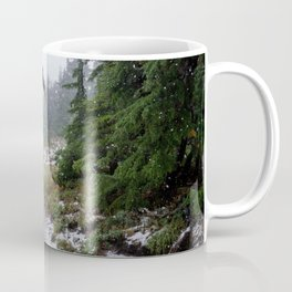 The First Mountain Snowfall Coffee Mug