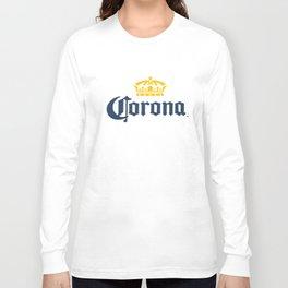 Corona Extra Men's Beer Logo White Pick Your Size Medium Beer T-Shirts Long Sleeve T-shirt