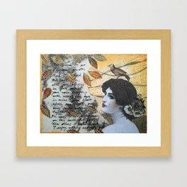 Romantic Lady Framed Art Print